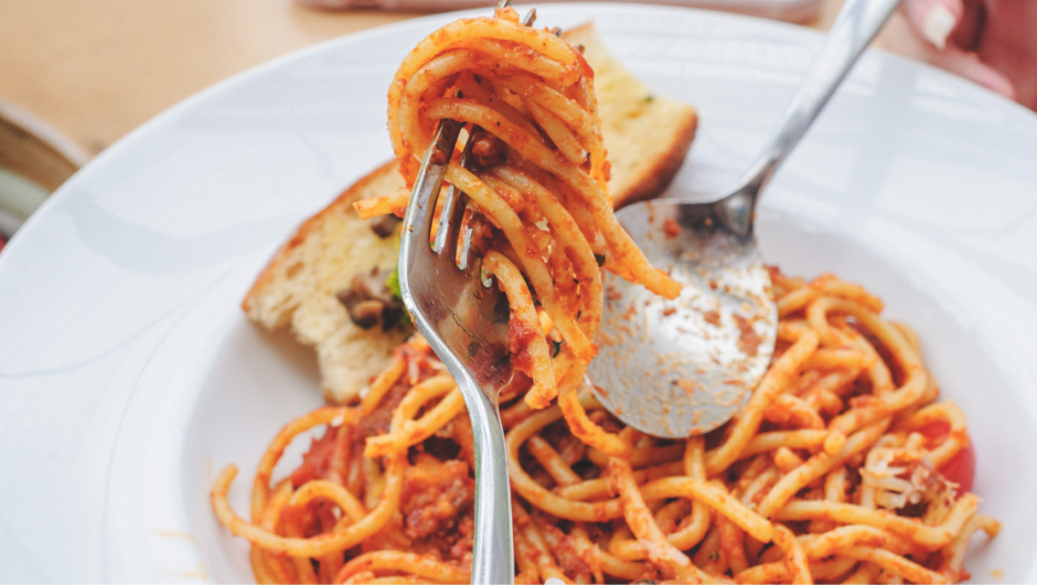 PLAIN PASTA AND TOMATO SAUCE HAS BECOME A STAPLE OF YOUR DIET